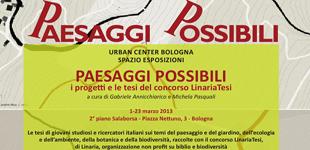 PAESAGGI POSSIBILI / esposizione tesi, Urban Center, Bologna