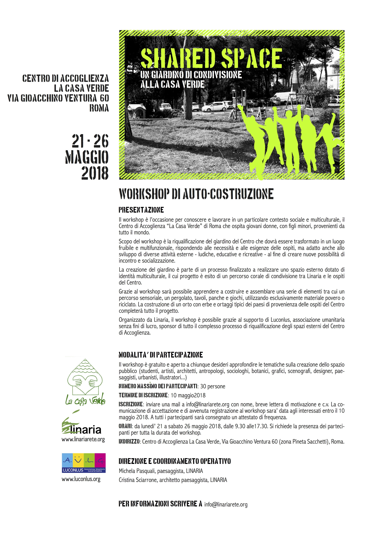 Piazza centro di accoglienza la casa verde roma linaria organizzazione non profit per la - Agevolazioni costruzione prima casa 2017 ...